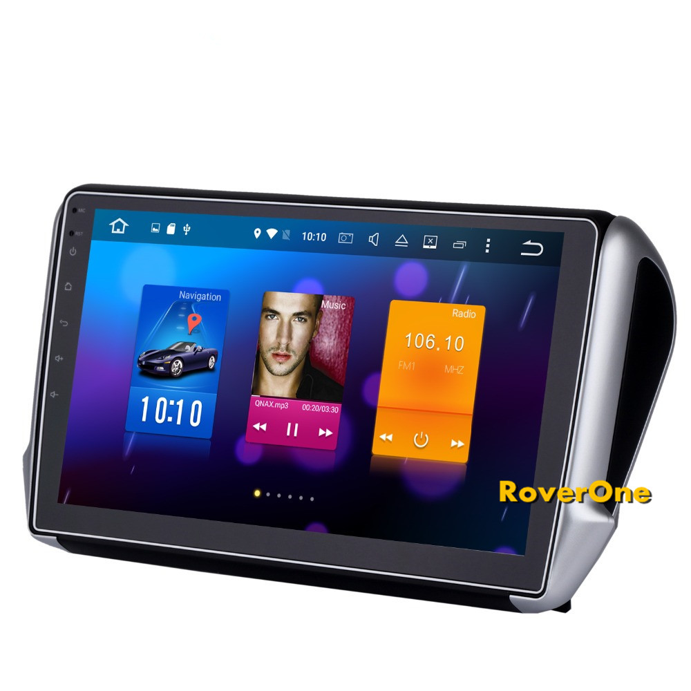 roverone for peugeot 208 2008 android 8 0 touch screen autoradio car gps radio stereo receiver. Black Bedroom Furniture Sets. Home Design Ideas