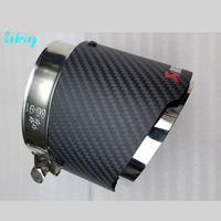 1 PC Carbon Fiber Akrapovic Car Exhaust Tips Muffler Pipe Covers For BMW X5