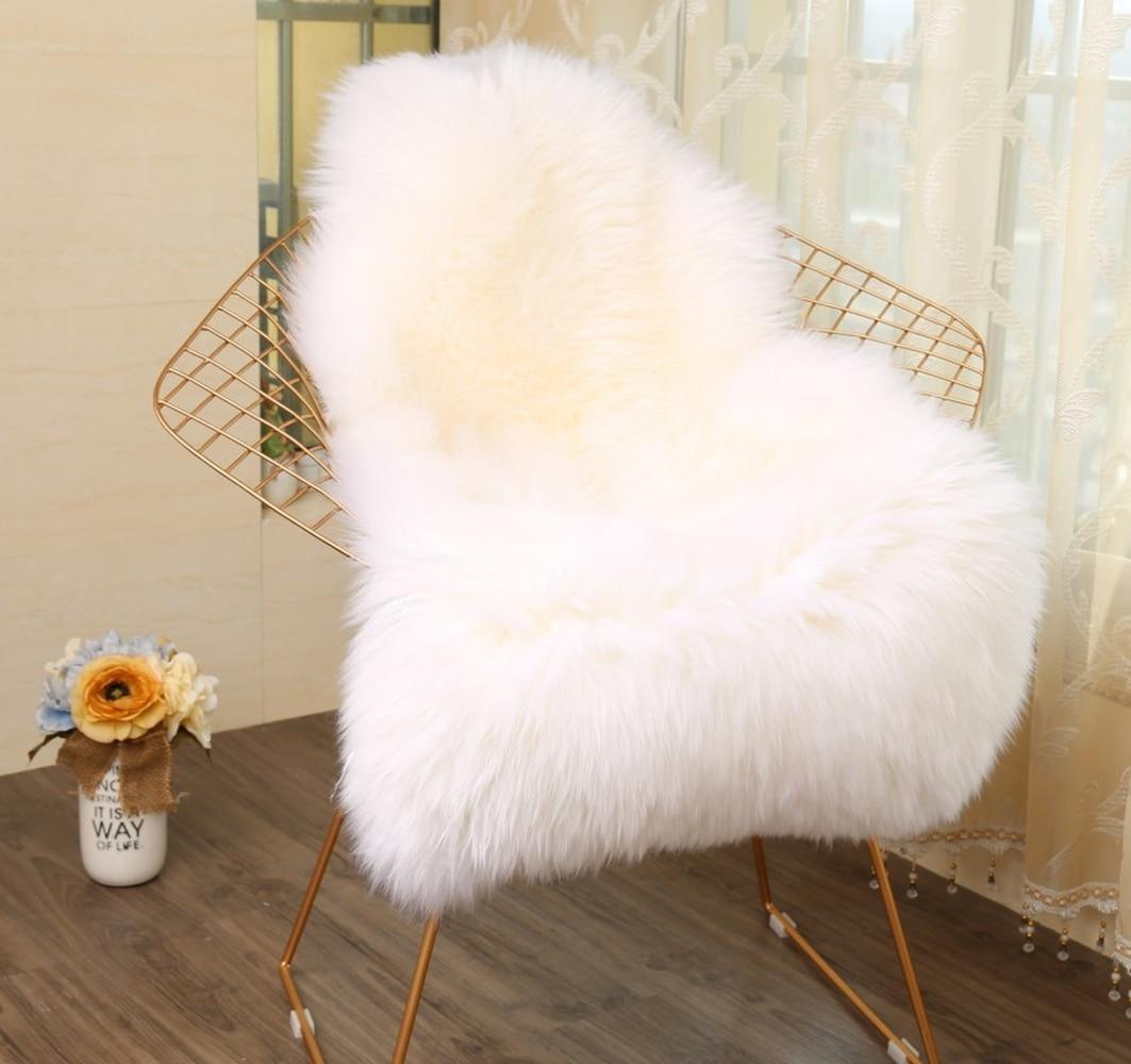 Haute Qualité Imitation Peau de Mouton En Daim Tapis Canapé Chaise Coussin Hôtel Chambre Prière Salon Maison Doux Chaud En Peluche Tapis