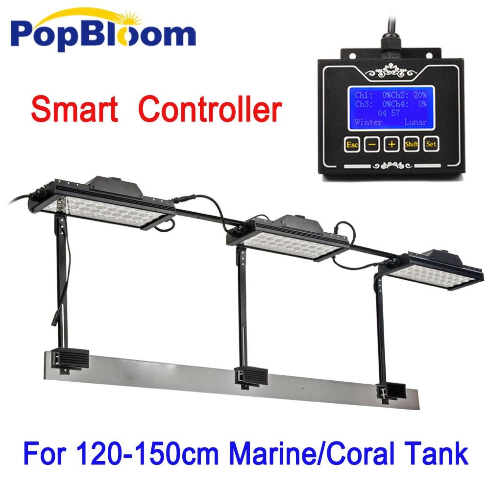 3PCS PopBloom Aqua Dimmable Control LED Aquarium Light Coral Marine Reef LPS Fishes Tank Fish Aquarium