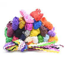 5mm S Shape Grosgrain Ribbon Curve Wavy Lace Trim Ribbon for Costume Hat Curtain Pillow Decoration Handmade DIY Sewing Crafts