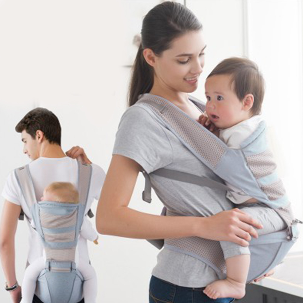 Multi-function Backpack Pouch for Baby Baby Carrier Breathable Front Holding Baby Carrier Shoulders Strap Waist Stool New