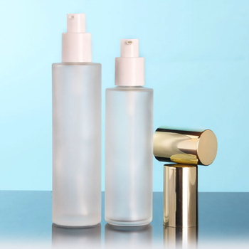 80ml frosted glass perfume bottles empty toner glass bottle 80ml lotion pump or glass packaing
