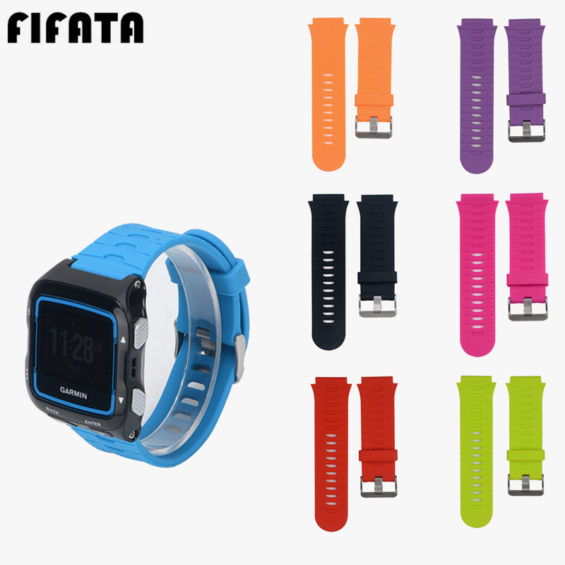 FIFATA For <font><b>Garmin</b></font> Forerunner <font><b>920xt</b></font> Colorful Silicoen Wrist Watch Band Sport <font><b>Strap</b></font> Replacement Bracelet Wristband Accessories image