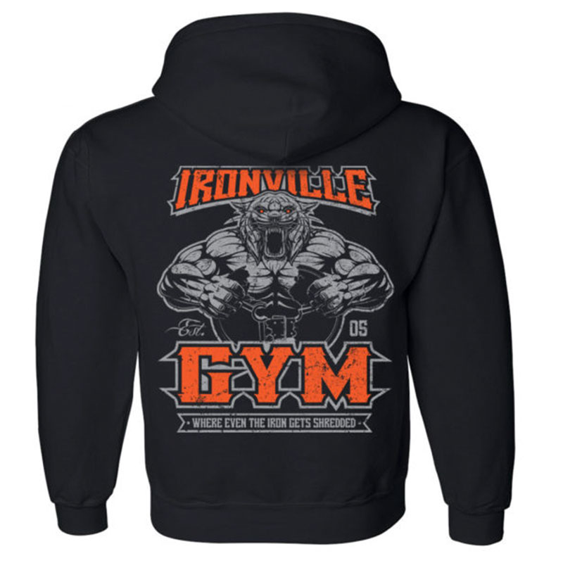 Fitness Wolf hoodie gym clothing Hoodies Men Long Sleeve Hoodie  Sweatshirts Mens Casual Brand Clothing Hoody Jacket 2018 New