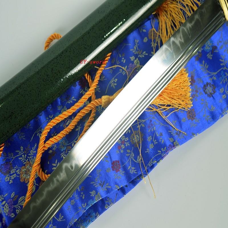 Clay Tempered Japanese Green Theme Katana Choji Hamon Sword Phenix - Տնային դեկոր - Լուսանկար 4