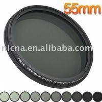Nicna fader nd filter instelbaar van nd2 om nd2-nd400 mc pro multi-coated filter lens 55mm