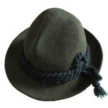 d2fa33ed64ed0d Tyrolean Hat Oktoberfest Wool Bavarian Alpine Felt Hat Chapeau Mixed Green