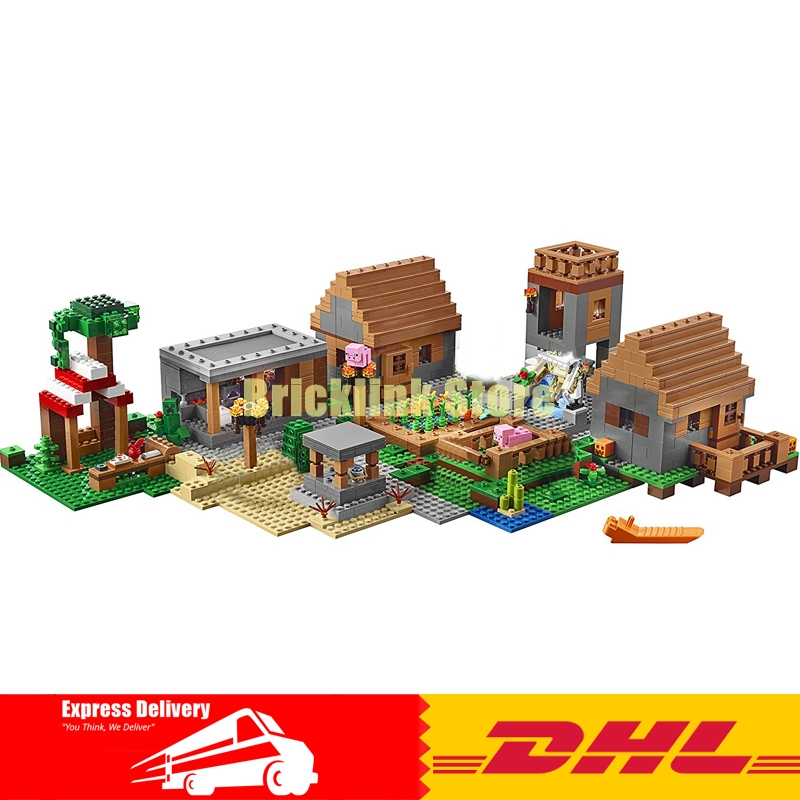 IN Stock LEPIN 18008 1673 PCS My worlds The Village Model Building Kits Blocks Kid Brick Toy Gift Compatible With 21128 dhl lepin 18032 2932 pcs the mountain cave my worlds model building kit blocks bricks children toys clone21137 in stock