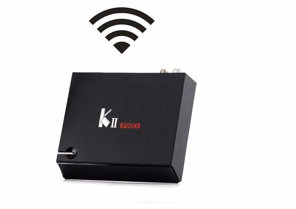 KII Pro Android TV Box 2GB+16GB DVB-S2 DVB-T2 Kodi Pre-installed Amlogic S905 Quad-core Bluetooth Smart Media Player t95x android tv box 2g 8g android 6 0 amlogic s905x quad core 2 4ghz wifi kodi pre installed iptv 16 0 install media player