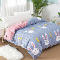 Cartoon rabbit Animal printing quilt cover Adult children students twin full queen king size Home textile blanket duvet cover