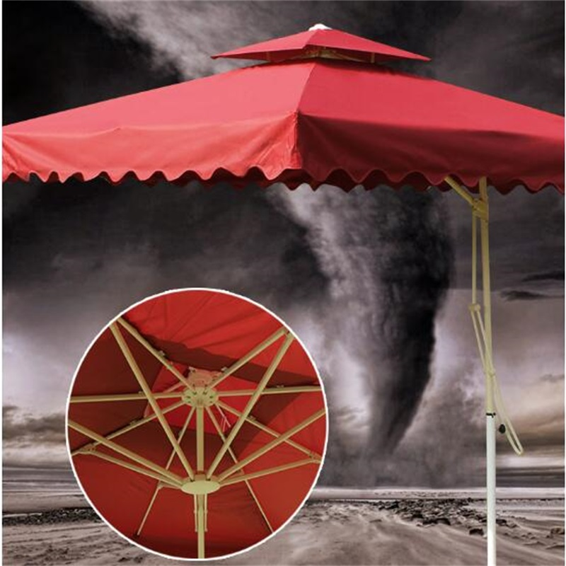 2.5*2.5M Outdoor Tent Umbrella Guard Post Folding Umbrella Portable Beach Sun Umbrella with cross iron base outdoor uv proof sunshade umbrella folding beach umbrella waterproof booth umbrella sun shelter advertising tent 3 0 metre round