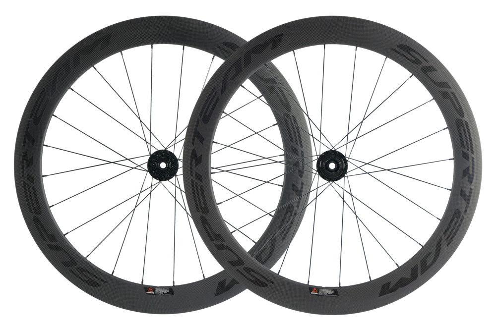 SuperTeam Carbon Clincher Disc Brake Wheel 700c 60mm Road Wheelset Matte