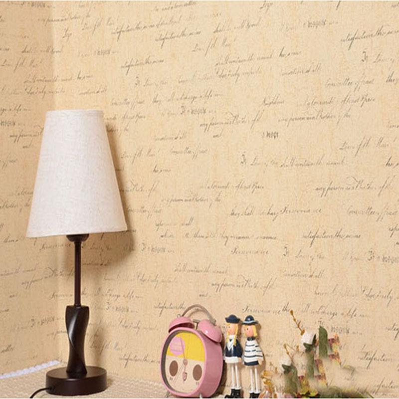 Chaud Europe type vintage petite lettre anglaise mot papier peint étanche PVC chambre salon étude TV mur nouveauté ménages