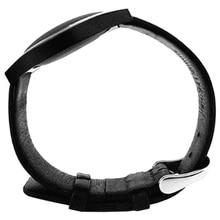 Scls кожаный ремешок для несоответствия блеск Браслет Деятельность сна Мониторы браслет Цвет: черный