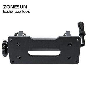 Image 4 - ZONESUN 革スカイビング機ストラップスプリッタハンドル剥離機械野菜なめしの革 DIY シャベル皮膚機