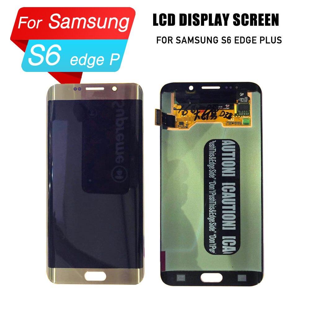Remplacement LCD pour samsung s6 edge plus écran tactile LCD pour samsung s6 edge plus assemblage de numériseur d'écran lcd pour la réparation