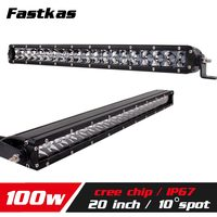 FASTKAS 20 100w LED Work Light Bar SUV Truck Tractor ATV 12V 24V 4X4 LED Offroad Light Bar LED Drive Light LED DRL seckill 120w