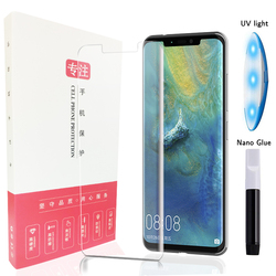 High-tech Ultra-thin UV Glue Tempered Glass For Huawei Mate 20 Pro Bend Edge Cover Phone Screen Protector Transparent Film