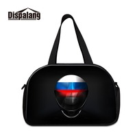 Dispalang 3D Printed Personalized Russia Style Picture on Travel Duffel for Men Cotton and Canvas Popular Designs Luggage Totes