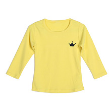 Kids Children Boys Girls Soft Cotton T-shirt Spring Summer Tops Clothes White Yellow Red Children Clothing for 2-7Y