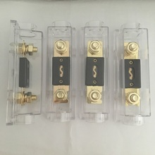 4pcs/Pack 80A 100A 150A 200A 250A 300AMP Bolt on Fuse ANL Fuse Holder Distribution in line 0 4 8 GA Positive With ANL Fuse