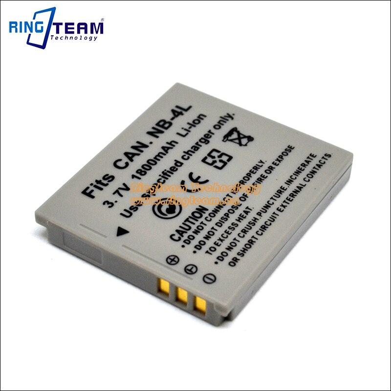 NB4L NB-4L Digital Battery Pack for Canon Cameras ELPH 100 300 310 330 HS PowerShot TX1 40 50 SD40 SD30 SD200 SD300 SD400 SD430