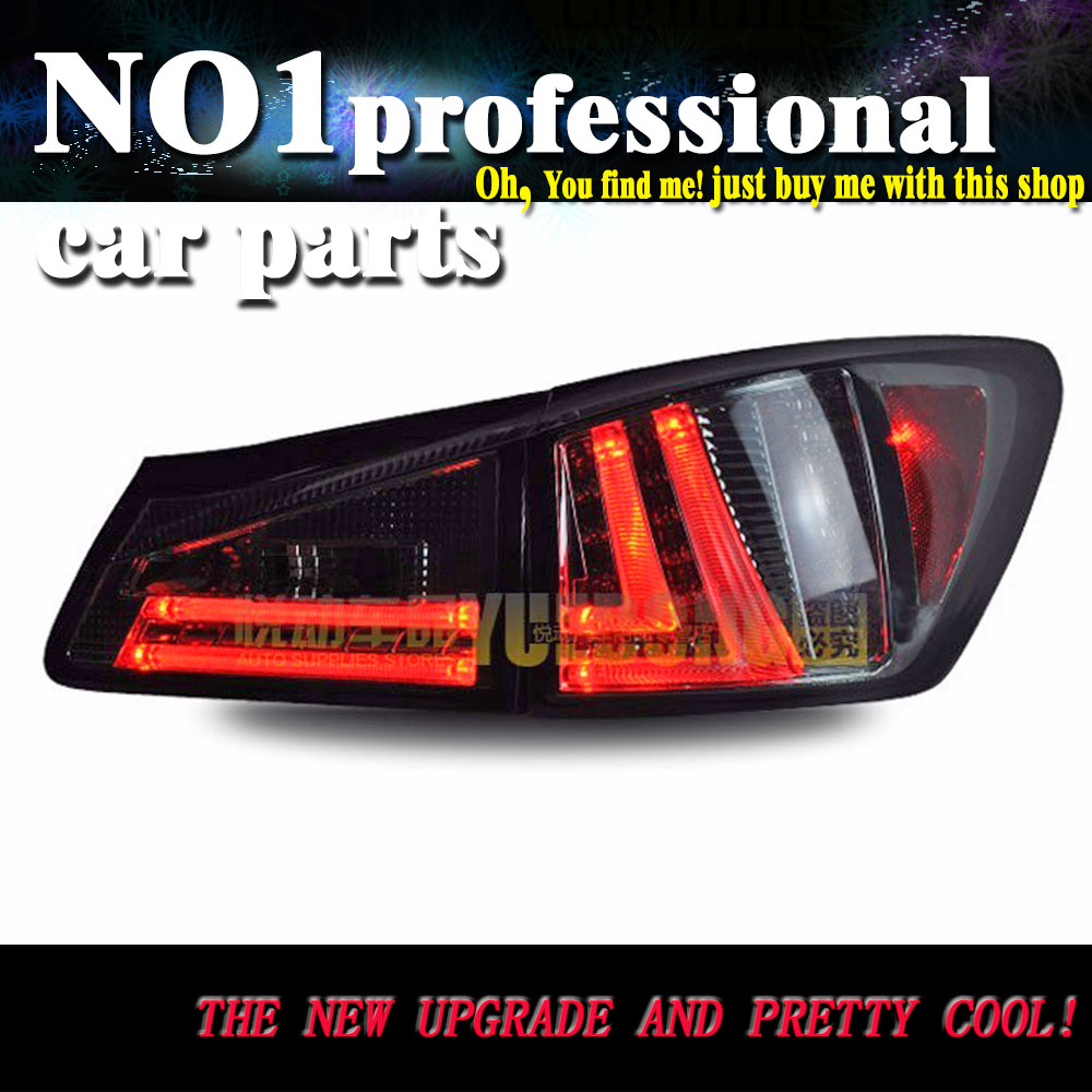 Car Styling Taillight Accessories For Lexus IS250 Tail Lights 2006-2012 LED Tail Light Rear Lamp DRL+Brake+Park+Signal