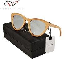 Vasos Bamboo Sunglasses And case Polarized Silvery Women Hard Sunglasses Versae Ukraine Bamboo Sunglasses And Case