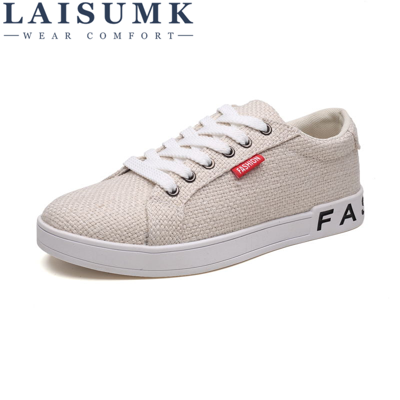 LAISUMK Spring Men Linen Loafers Shoes Mens Casual Shoes Male Breathable Business Shoe Zapatillas Hombre Tufli Gumshoes Mocassin in Men 39 s Casual Shoes from Shoes