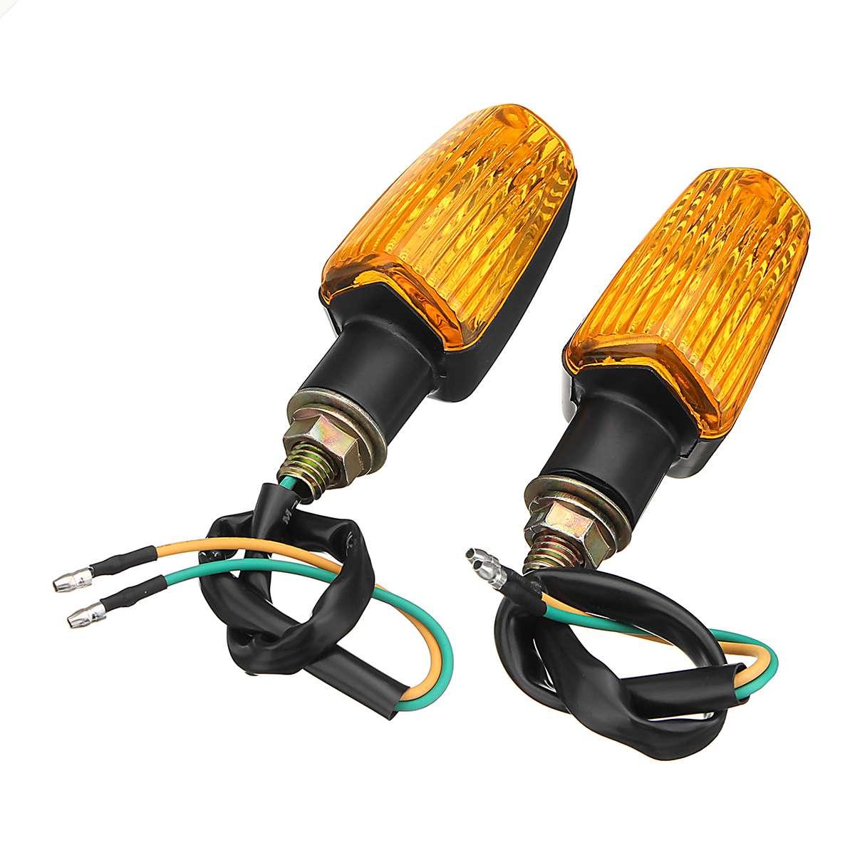 2Pcs Universal For Honda For Kawasaki For Suzuki For Yamaha Flasher Lamp Motorcycle Turn Signal Light Blinker Bulb 12V 10W Amber