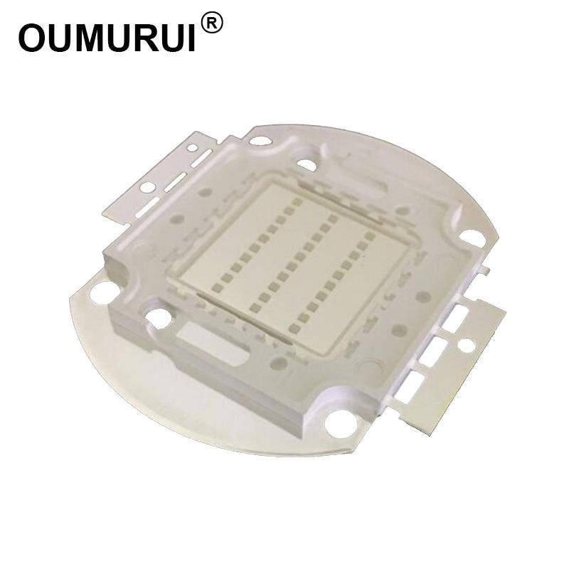 5 дана 20w / 30w / 50w / 100w ультракүлгін LED COB чип шамымен балық аулау жарық диодты маникюр күлгін прожектор 395-400nm 45mil Тегін жеткізу