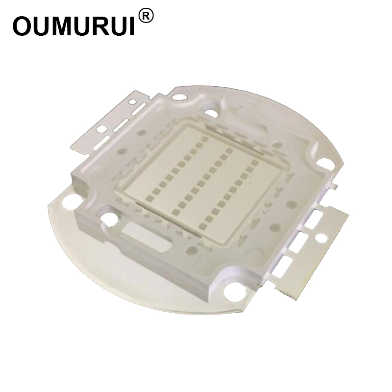 5st 20w / 30w / 50w / 100w UV LED COB Chip lampfiske LED manicuring lila strålkastare 395-400nm 45mil Gratis frakt