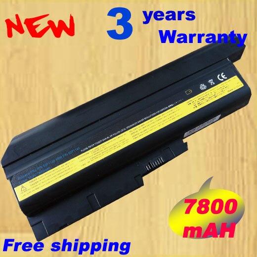 7800 mah células de Substituição Da Bateria Do Portátil Para IBM ThinkPad R60 R60e 9 T60 T60p Lenovo ThinkPad R500 T500 W500 laptop