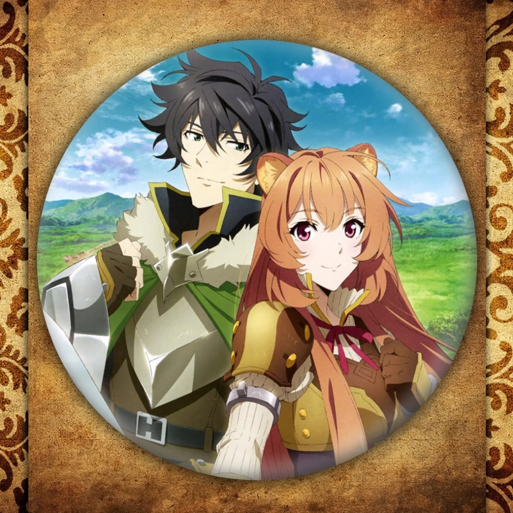 The Rising of the Shield Hero Naofumi Iwatani Raphtalia Cosplay Bedge Cartoon Backpack Bags Badges Button Brooch Pin Accessory