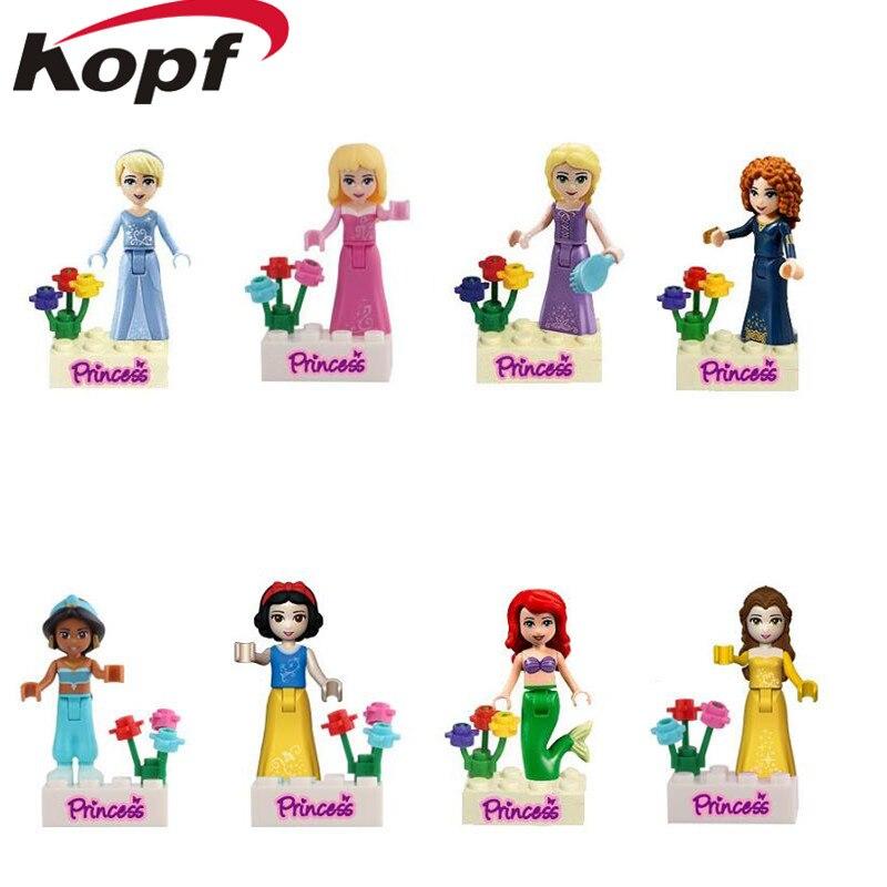 Super Heroes Prinzessin Mädchen Weißen Schnee Fee Tinker Bell Märchen Anna Elsa hawkeye Bausteine Kinder Geschenk Spielzeug JG115 JG116