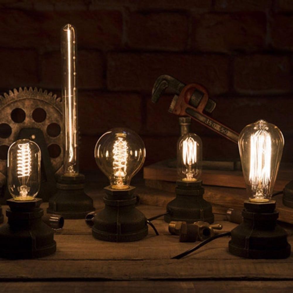 Lampes de Table Vintage en fer Loft, lampes de bureau à commande par gradateur, luminaire de décoration