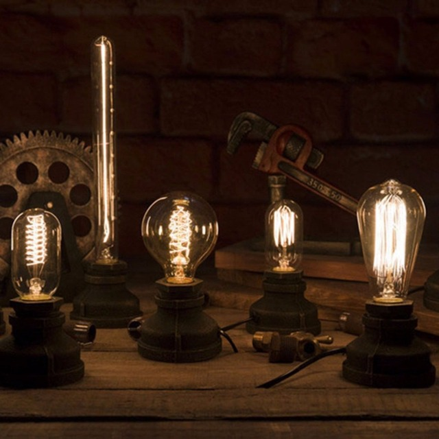 Vintage Iron Loft Table Lampsdimmer Switch Control Desk Lamp Lights