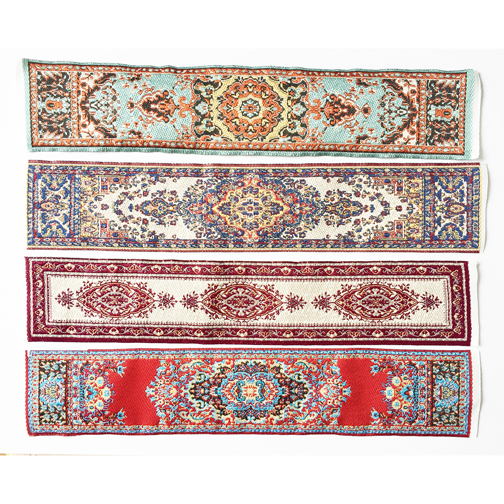 Carpet Rug Bed Runner 1/12 Dollhouse Miniature Embroidered  #OR50-
