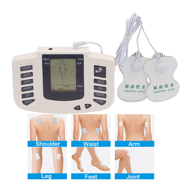16 pads Body Electrical Muscle Stimulator Button Therapy Massager Pulse Tens Acupuncture Full Body Massage Relax Care