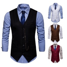 ZOGAA business vest waistcoat men Leisure 4 colors formal for 2019 new plus size S-2XL Cotton mens