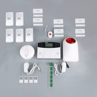 GSM Wireless 433MHz Smart Voice Anti theft Alarm System Home Alarm Apparatus with LCD Display Screen with 99+4 Defense Zones