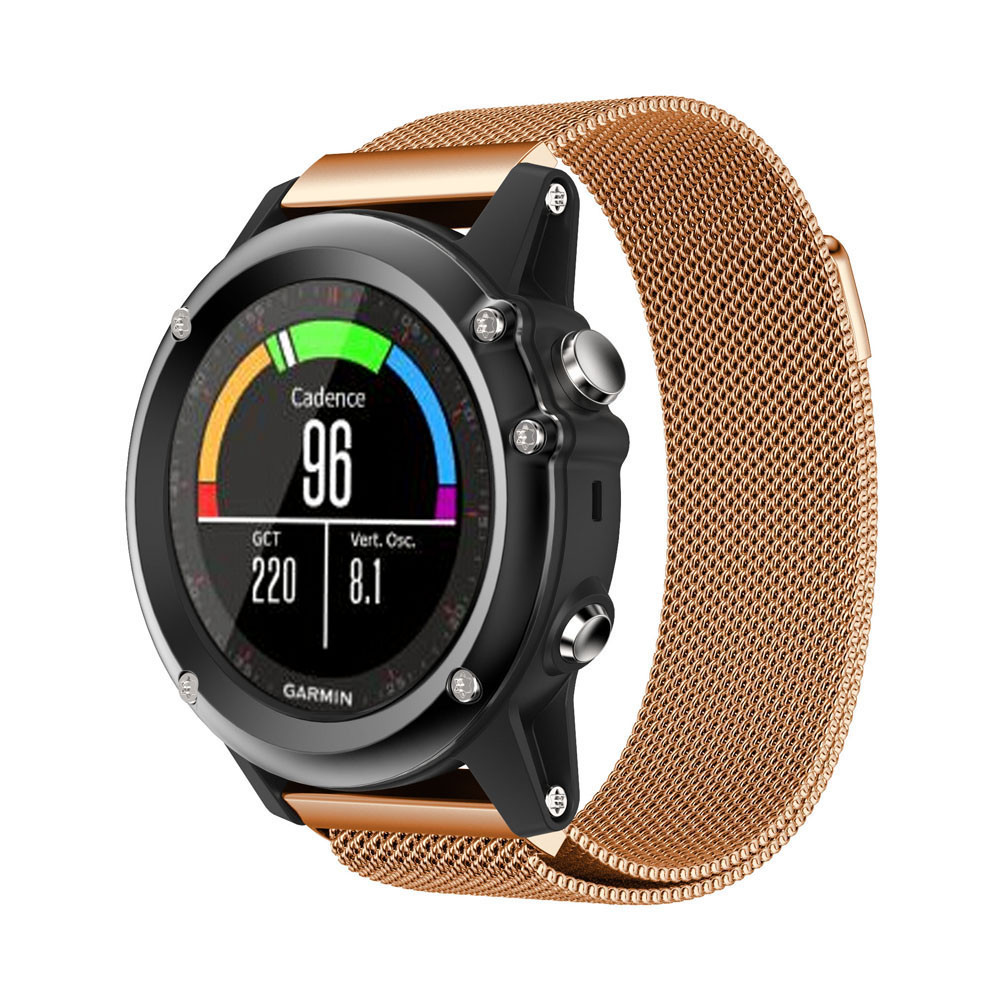 garmin fenix 3 hr watch band 26mm high quality metal stainless steel watch band strap sliver black rose gold 2017 new arrival Hot 2017 New Fashion Superior Milanese Magnetic Loop Stainless Steel Watch Band For Garmin Fenix3 High Quality Bracelet Dropship
