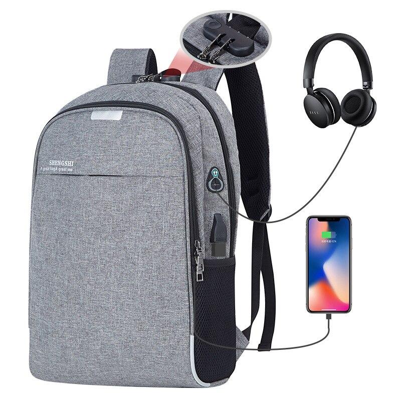 1cb1eecb3 Homens mochila de laptop de carregamento usb do computador sacos de estilo  grande bagpack mochilas casuais
