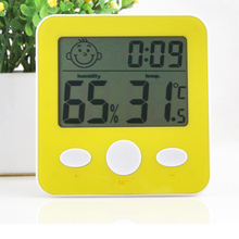 Cheapest prices Intelligent electronic thermometer and humidity indoor thermometer humidity meter creative clock weather station