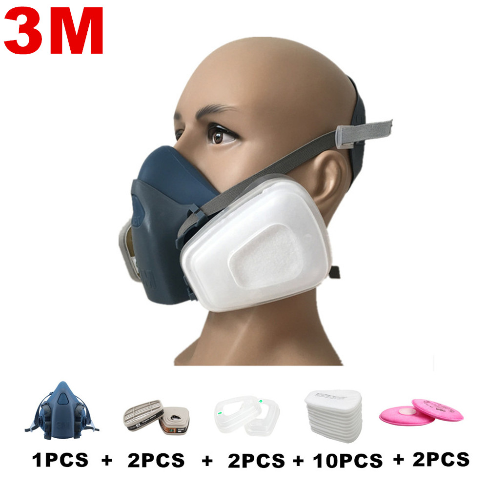 Fire Protection Steady Industrial Safety 3m7502 Suits Respirator Gas Mask Chemical Mask Spray Chemical Dust Filter Breathe Mask Paint Dust Half Gas Fire Respirators