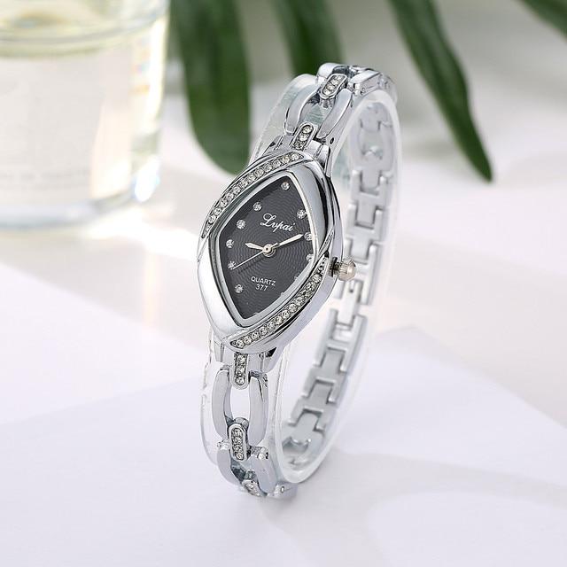 Lvpai Hot simple Women Unisex Rhinestone diamond Shape Quartz Alloy Wrist Watch