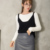 2017 Primavera Otoño Nueva Mujer Suéter de Cachemira Chaleco Sin Mangas Chaleco de Punto Jersey Chaleco de Las Mujeres de Alta Calidad Negro Rojo Tops