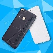 Xiao Mi Max 2 Чехол смарт проснуться оригинальный NILLKIN PU блеск кожаный чехол для телефона откидная крышка для xiao Mi Max 2