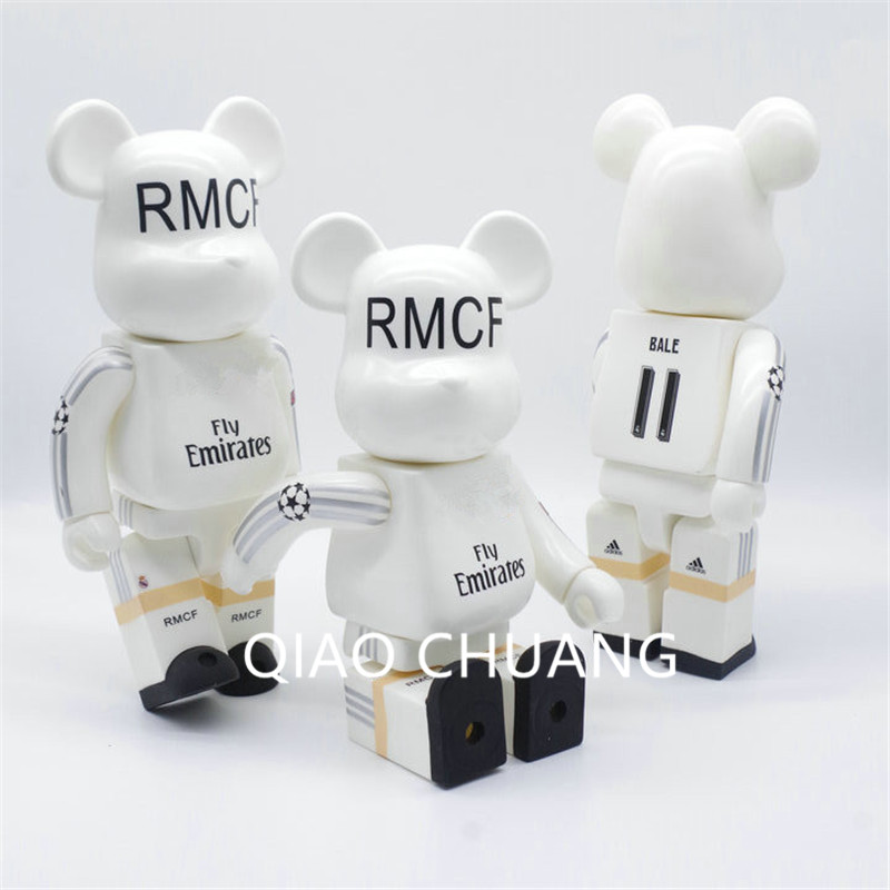 BE @ RBRICK Orso BEARBRICK Champions League Bale Bemzema Ronaldo Commemorate Ver World Cup 28CM PVC Action Figure Toy G691 new hot christmas gift 21inch 52cm bearbrick be rbrick fashion toy pvc action figure collectible model toy decoration
